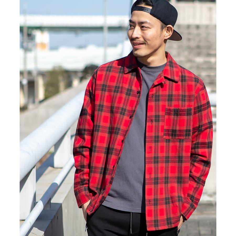 チェックシャツ メンズ 韓国 94