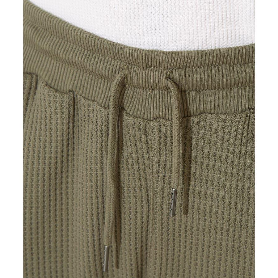 ジョガーパンツ メンズ レディース ジョガー ジャージパンツ ワッフルパンツ イージーパンツ リブパンツ サーマル 韓国ファッションボトムス ブラック カーキ 黒 improves 8
