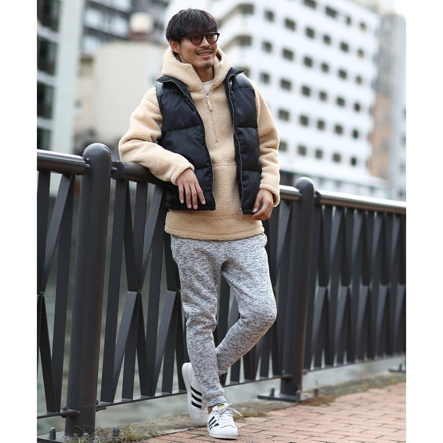 アノラックパーカー メンズ レディース ボアジャケット もこもこ 暖かい あったか プルオーバー プルパーカー ボアパーカー 長袖無地レオパード柄 豹柄 ヒョウ柄 黒 アウトドア キャンプ ストリート系 ストリートファッション 韓国ファッション improves 4