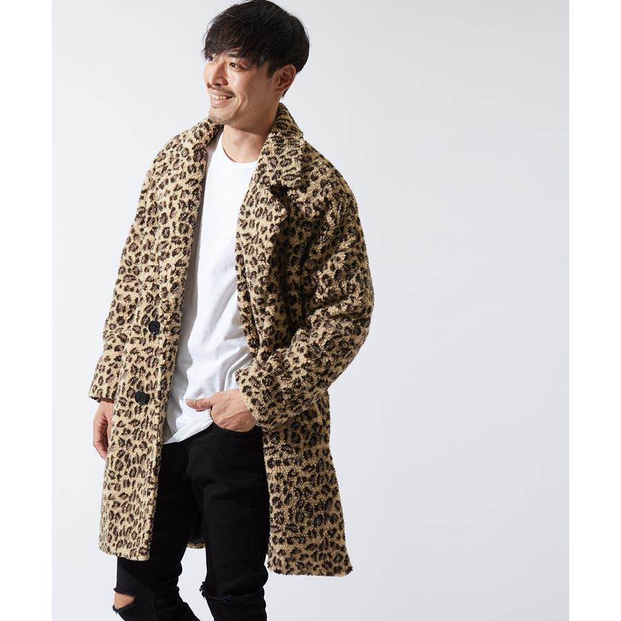 チェスターコート メンズ レディース シープボア ビッグシルエット もこもこ あったか 暖かい ゆったり 大きいサイズ オーバーサイズロング丈 ロングコート 無地 レオパード柄 豹柄 ヒョウ柄 黒 ストリート系 ストリートファッション 韓国ファッションimproves 108