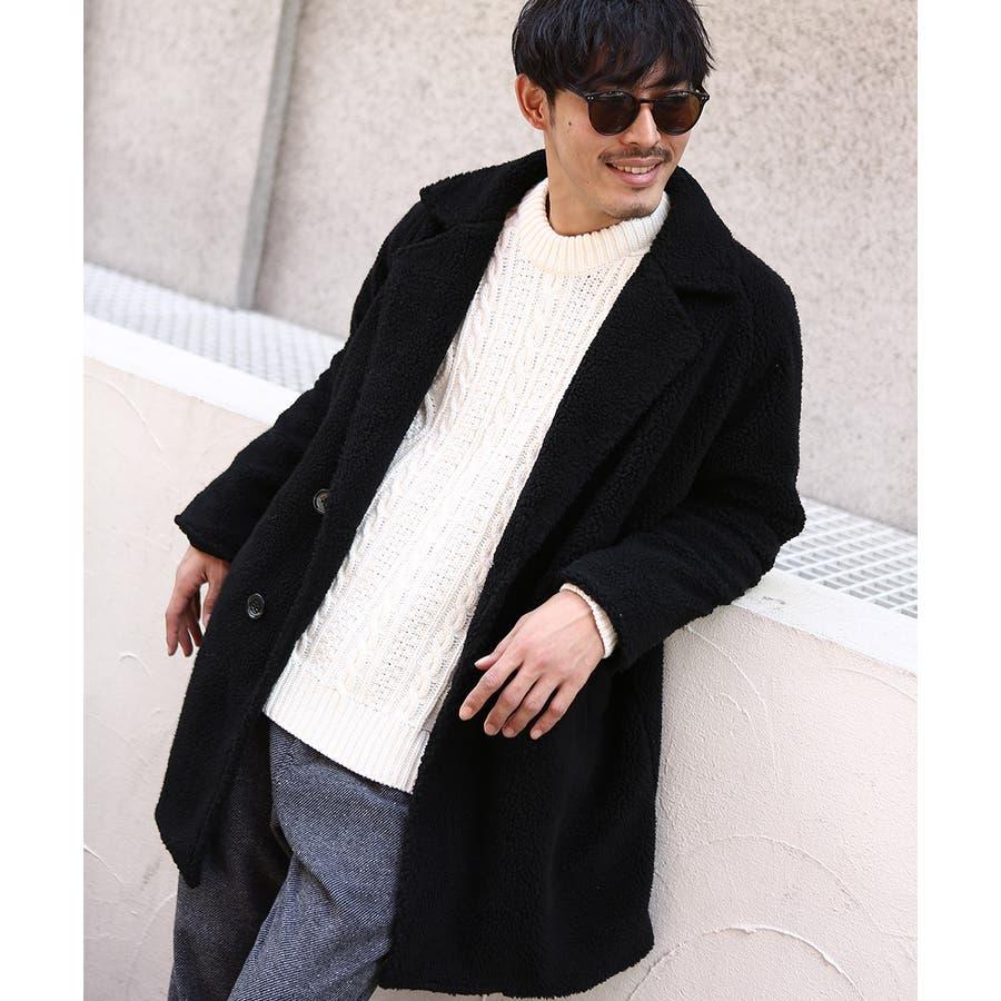チェスターコート メンズ レディース シープボア ビッグシルエット もこもこ あったか 暖かい ゆったり 大きいサイズ オーバーサイズロング丈 ロングコート 無地 レオパード柄 豹柄 ヒョウ柄 黒 ストリート系 ストリートファッション 韓国ファッションimproves 3