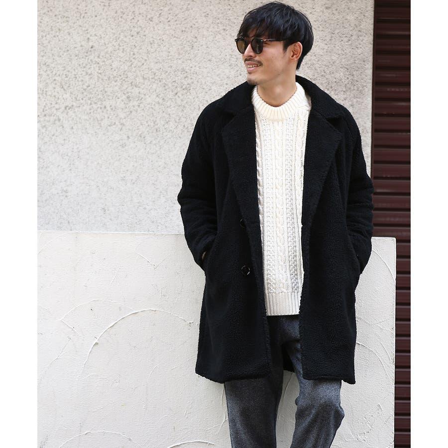 チェスターコート メンズ レディース シープボア ビッグシルエット もこもこ あったか 暖かい ゆったり 大きいサイズ オーバーサイズロング丈 ロングコート 無地 レオパード柄 豹柄 ヒョウ柄 黒 ストリート系 ストリートファッション 韓国ファッションimproves 21