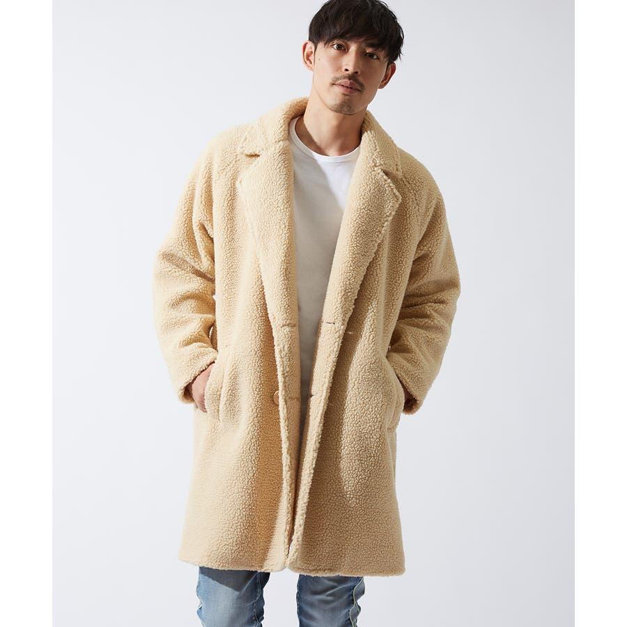 チェスターコート メンズ レディース シープボア ビッグシルエット もこもこ あったか 暖かい ゆったり 大きいサイズ オーバーサイズロング丈 ロングコート 無地 レオパード柄 豹柄 ヒョウ柄 黒 ストリート系 ストリートファッション 韓国ファッションimproves 5