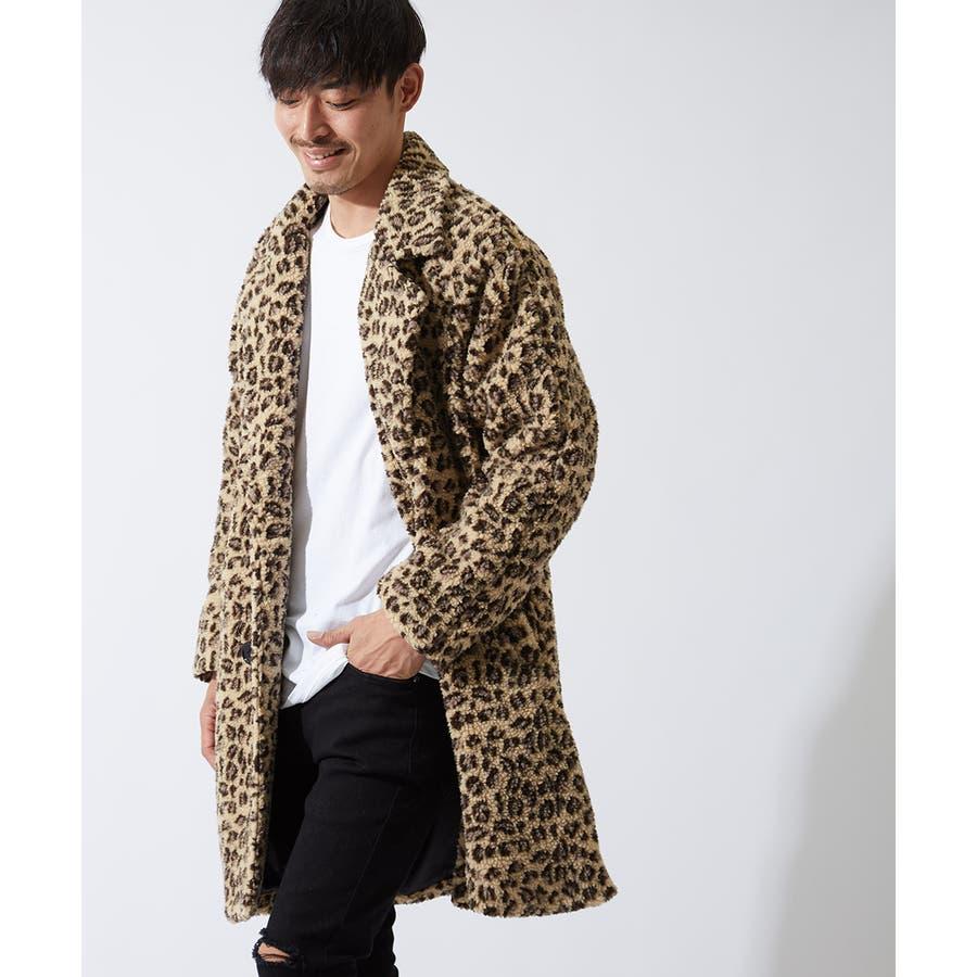 チェスターコート メンズ レディース シープボア ビッグシルエット もこもこ あったか 暖かい ゆったり 大きいサイズ オーバーサイズロング丈 ロングコート 無地 レオパード柄 豹柄 ヒョウ柄 黒 ストリート系 ストリートファッション 韓国ファッションimproves 6