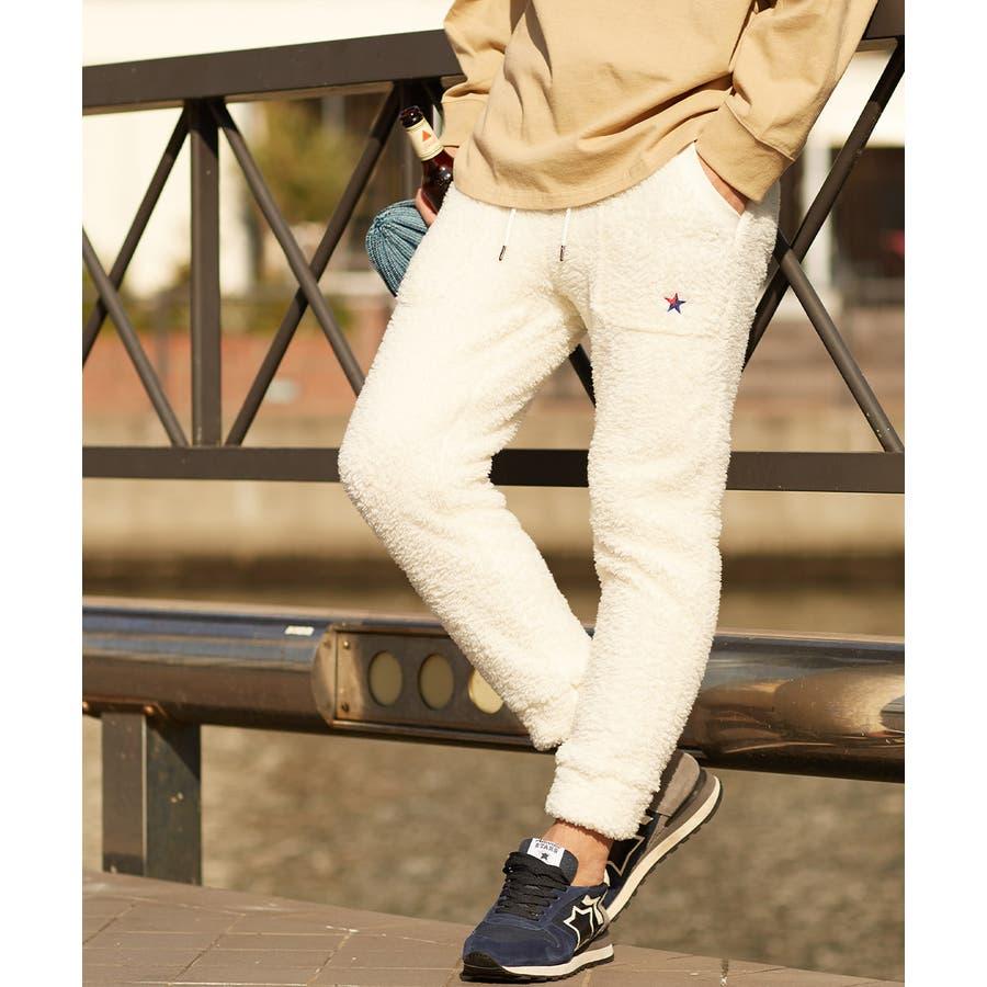マイクロフリース ボア ジョガーパンツ メンズ レディース ジョガー パンツ もこもこ ブラック ホワイト キャメル ベージュブラウン 黒 白 improves 17
