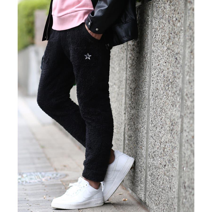 マイクロフリース ボア ジョガーパンツ メンズ レディース ジョガー パンツ もこもこ ブラック ホワイト キャメル ベージュブラウン 黒 白 improves 21