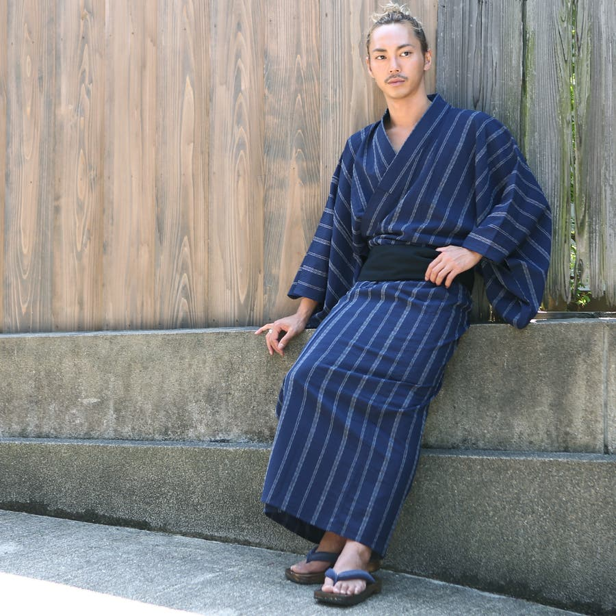 4点セット浴衣(メンズファッション 和服 浴衣セット メンズimproves imp improves) インプローブス 夏 夏物夏服 7