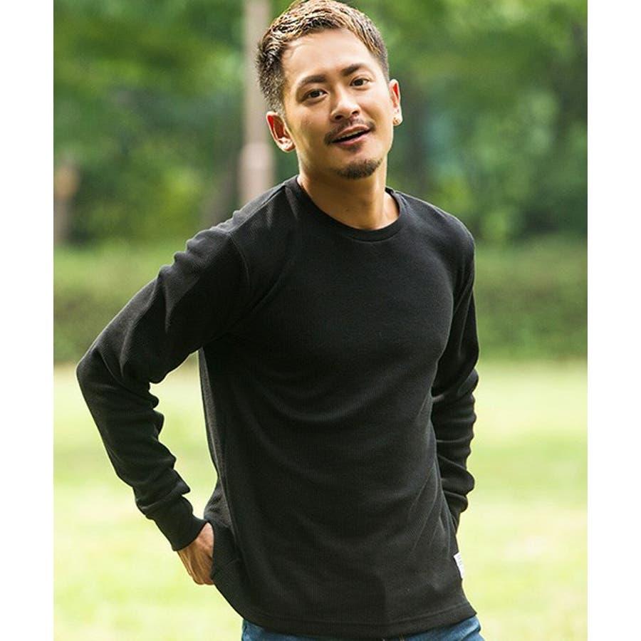 CavariA【キャバリア】サーマル無地クルーネックロンTEE/全7色 9