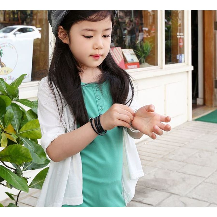 ba11c1c21283d ... サイズ有り トップス 韓国子供服  豪農. The Better Good Sence カーディガン(全6色) 女の子 キッズ 大きい