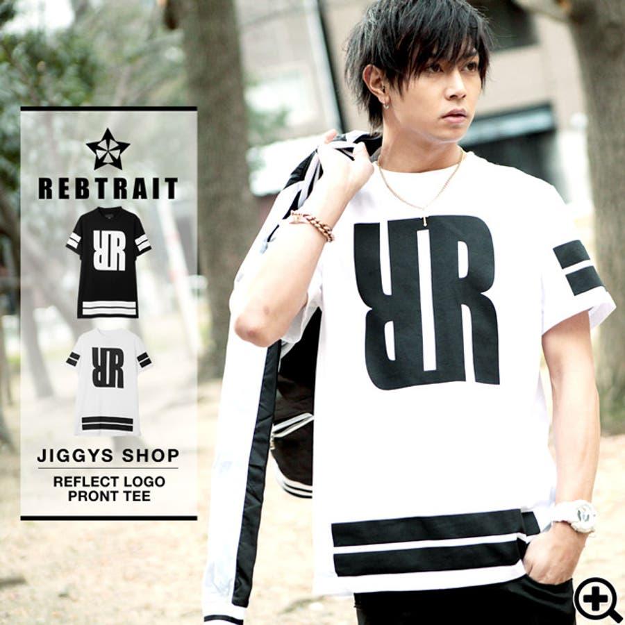 ◆REBTRAIT(レブトレイト) リフレクトロゴプリントTシャツ◆Tシャツ 半袖 ストリート スケーター