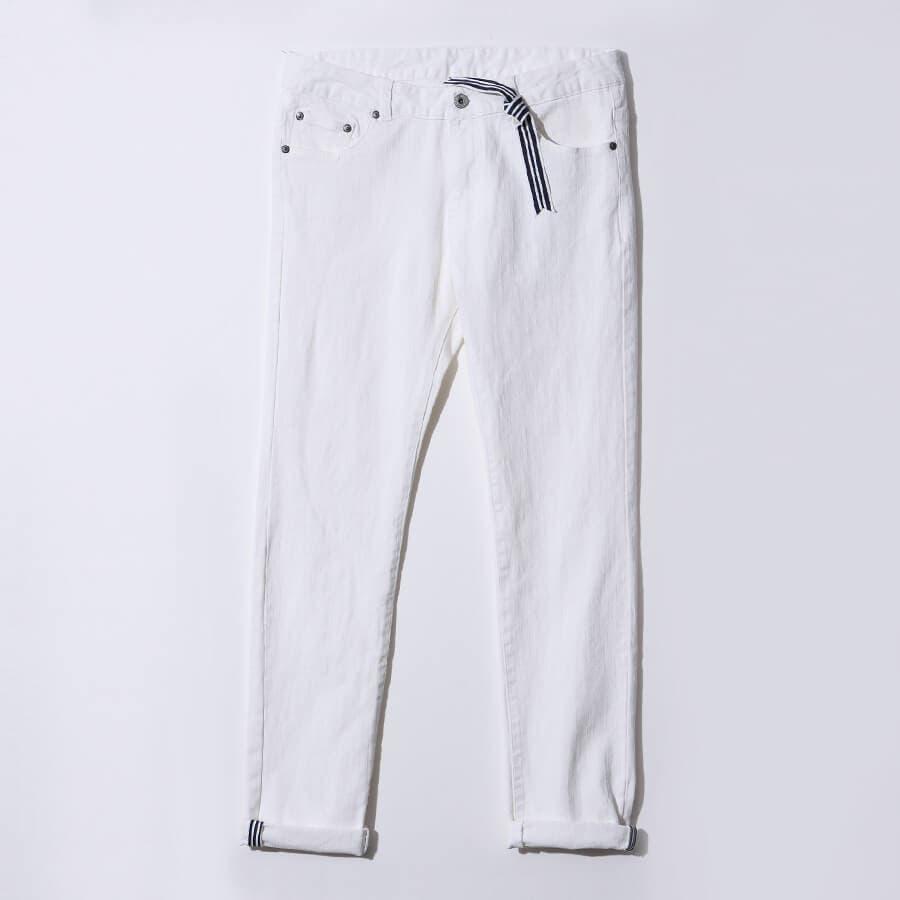 スタイルが良く見える 39-51-H333  思わず惚れてしまう抜群の爽やかさ! マリンテイストパンツ メンズ ファッション MENZ-STYLE メンズスタイル ホワイトパンツ ボトムス マリン 夏 春 培養