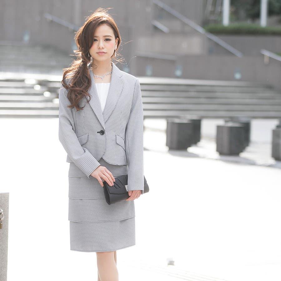 スーツ 入学式 卒業式 ママ ビジネス ジャケット スカート ワンピース 2点セット アンサンブル フォーマル 393502