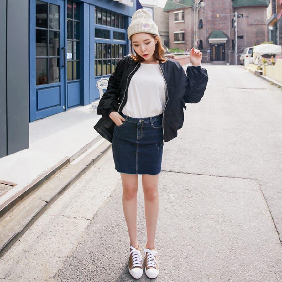 デニムスカート ファッション