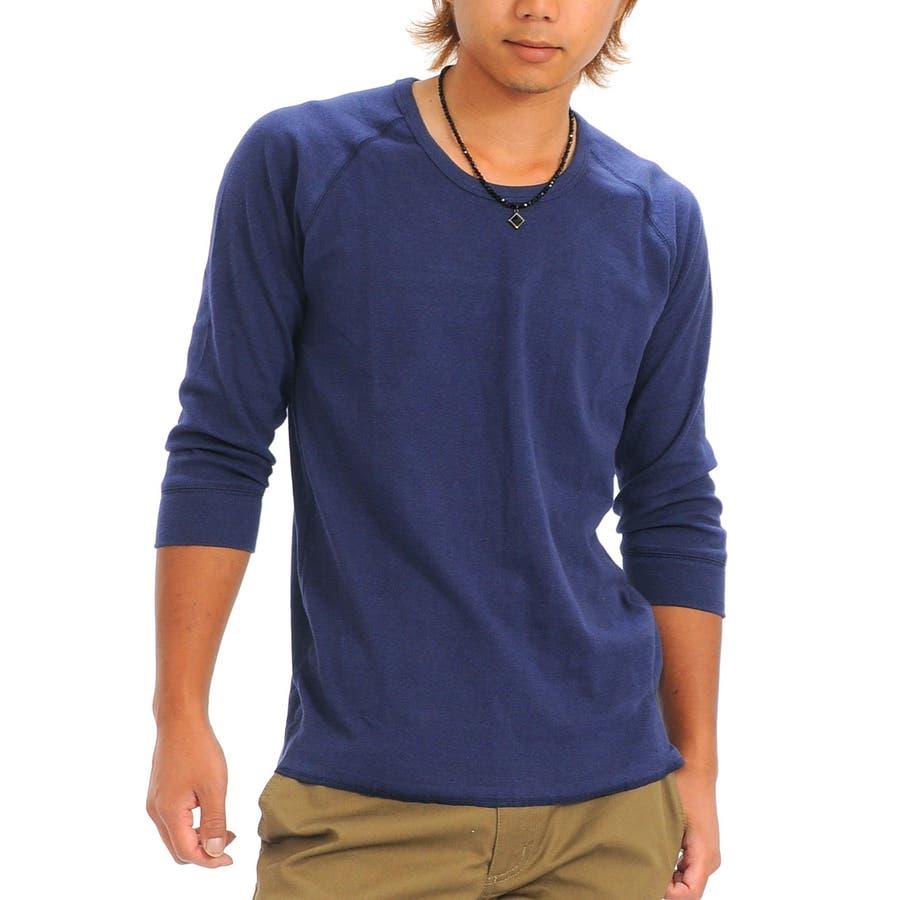 重宝すること間違いなし Tシャツ メンズ 5分袖 Uネック ティーシャツ 無地 きれいめ 七分袖 インナー 春 外圧