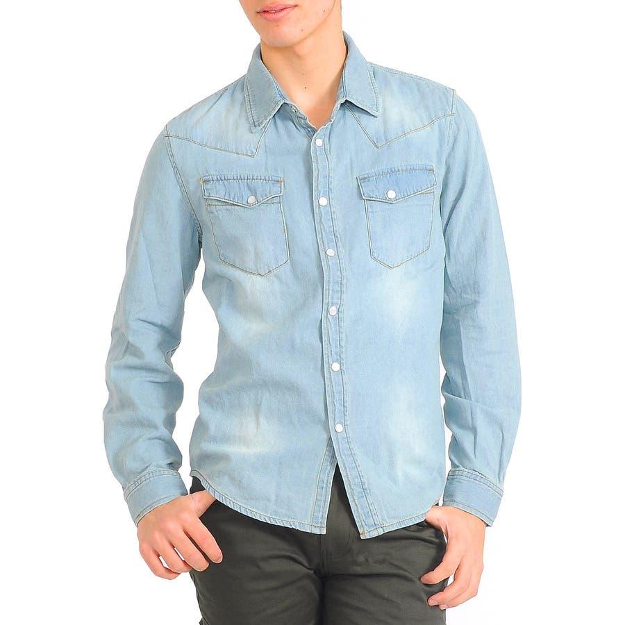 普段着として活躍中です メンズファッション通販ウエスタンデニムシャツ shirt メンズ シャツ Men's 春先行  春 外援