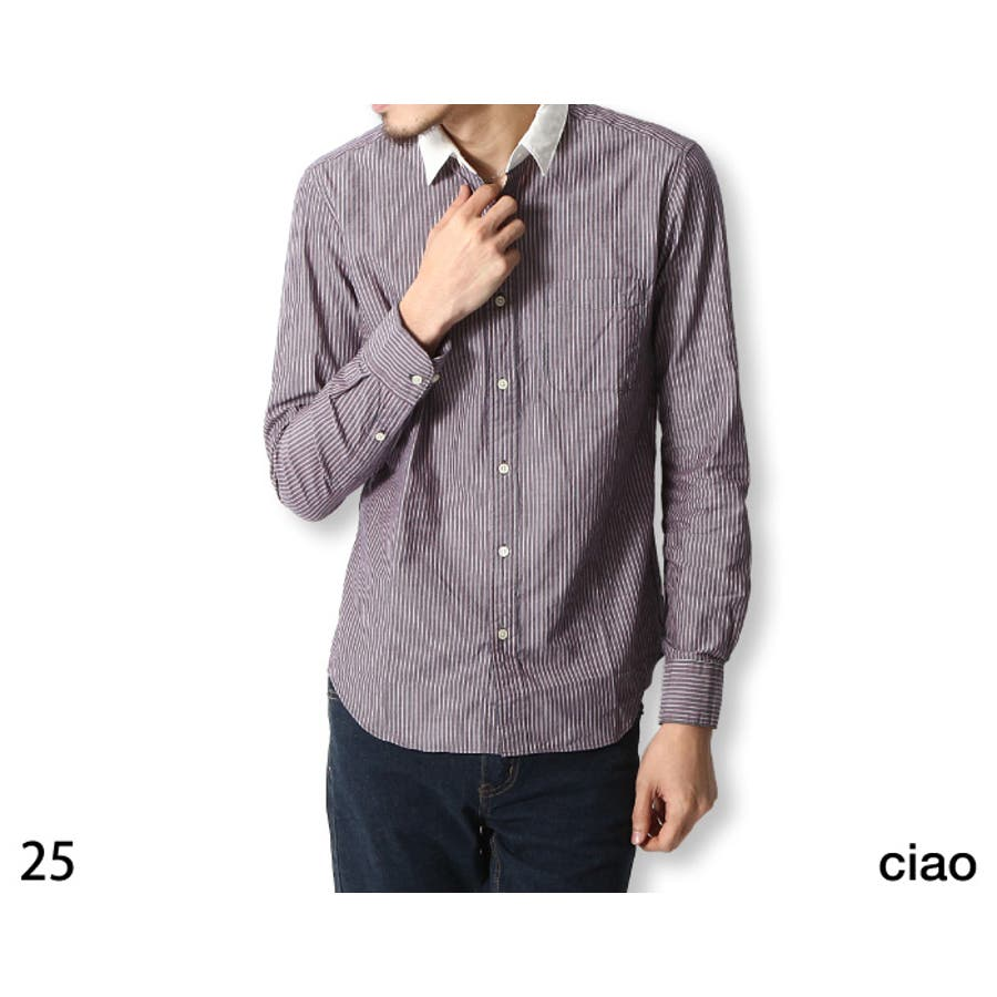 着回しがききやすい メンズファッション通販レギュラーシャツ メンズ メンズファッション クレリック ストライプ グレン チェック 無地長袖シャツ zip-cs  55-220  春 シャツ 号外