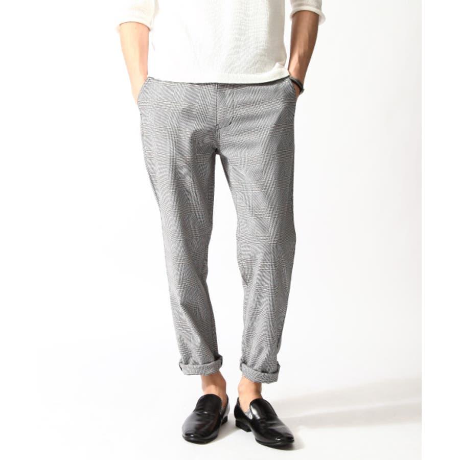 色違いであと一着欲しいかも メンズファッション通販スラックス メンズ メンズファッション 春 チェックパンツ ウィンドペン チェック  zip-cs  br4013 軍師