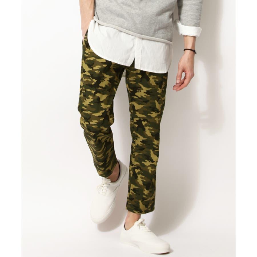 いい感じで着れました 春服 クロップドパンツ メンズ メンズファッション チノパンツ チノパン アンクルカット 九分丈 カジュアルパンツ 春 テーパードカラーパンツ 迷彩 迷彩柄 春物  zip-cs  15002-13pz 共力