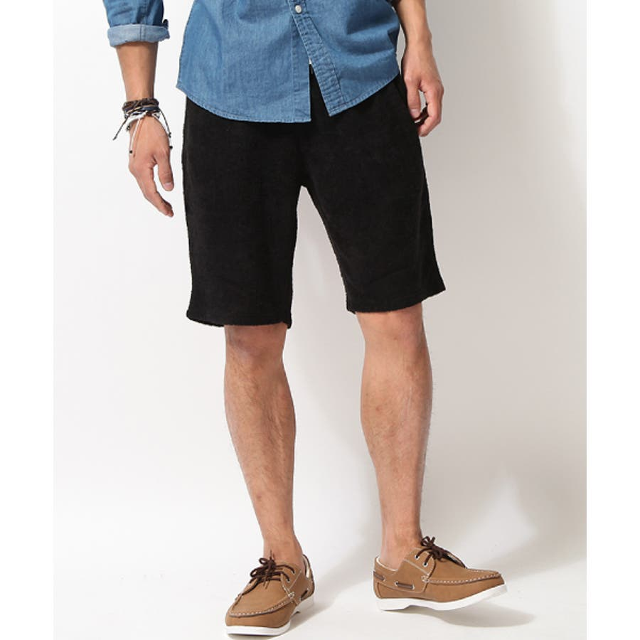 おしゃれ男子の話題 ハーフパンツ メンズ メンズファッション イージーパンツ ショートパンツ ショーツ 夏服 ボーダー ボタニカル 花柄 パイル タオル zip-cs  9941 合憲