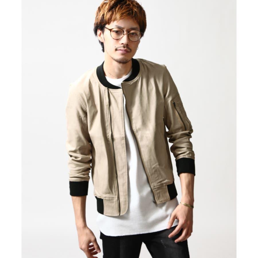 ついついヘビロテ メンズファッション通販MA-1 メンズ メンズファッション スプリング ジャケット MA1 ストレッチ ギャバ ブルゾン ブラック ベージュ カーキ 長袖春 春服  zip-cs  16-ic-010 D 合格