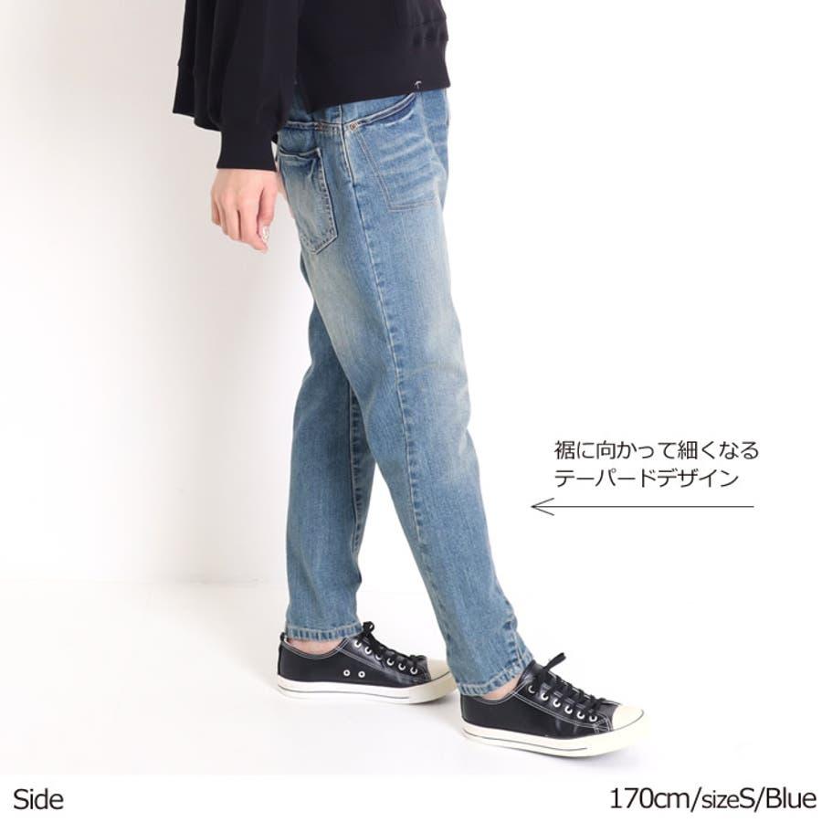 サルエル デニム サルエルパンツ レディース 大きいサイズ ボーイフレンドデニム サルエルデニム デニムパンツ テーパードパンツ ゆったり 体型カバー 大人かわいい きれいめ 韓国ファッション 人気 パンツ ジーンズ インディゴ ホワイトデニム 4