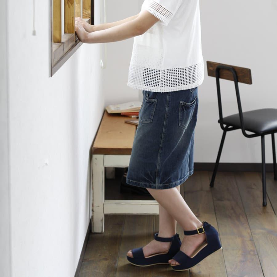 デニムスカート スカート デニム タイトスカート タイト ペンシルスカート フロントボタン 大きいサイズ ジーンズ 前開き 前ボタン 韓国ファッション 韓国 きれいめ シンプル 無地 ユーズド加工 ホワイト 白 台形スカート ボトムス 8