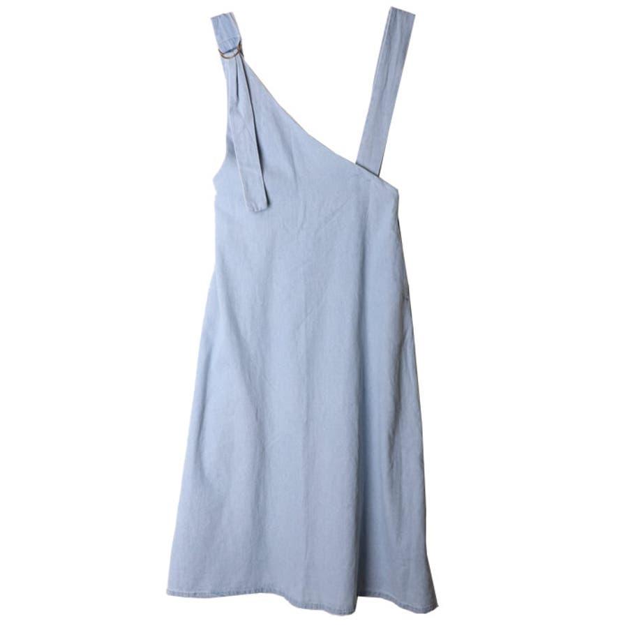 ジャンパースカート デニム レディース ロング 夏 デニムスカート スリット サロペット 夏物 夏服 体系カバー 大人かわいいきれいめ 7