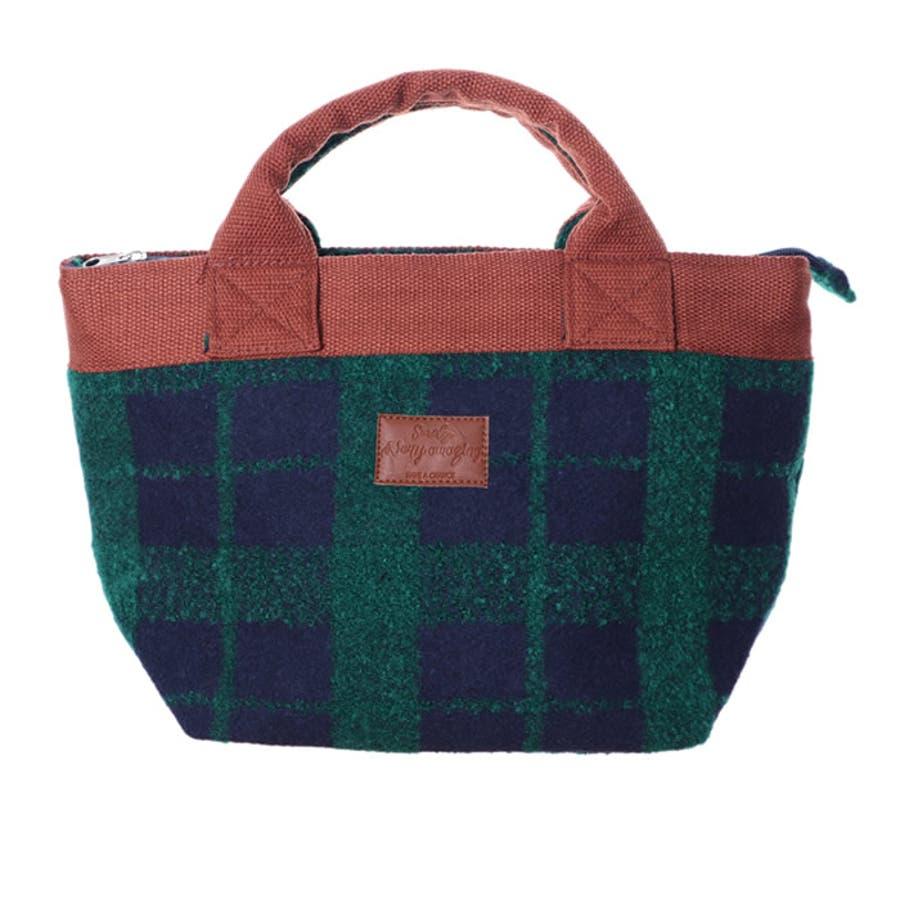 トートバッグ トート バッグ ランチバッグ バック 鞄 トートバック ミニバッグ ハンドバッグ サブバッグ セカンドバッグ ファスナー付き 小さめ 布 チェック ミニトートバッグ  大人かわいい フェミニン きれいめ プチプラ プレゼント お弁当袋 47