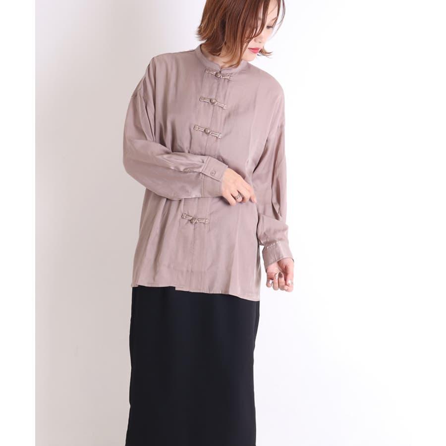 ビッグシャツ ロングシャツ チャイナ 23