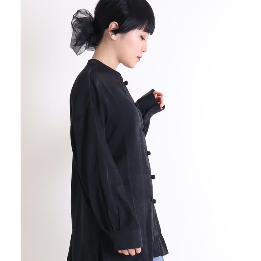 ビッグシャツ ロングシャツ チャイナ 21