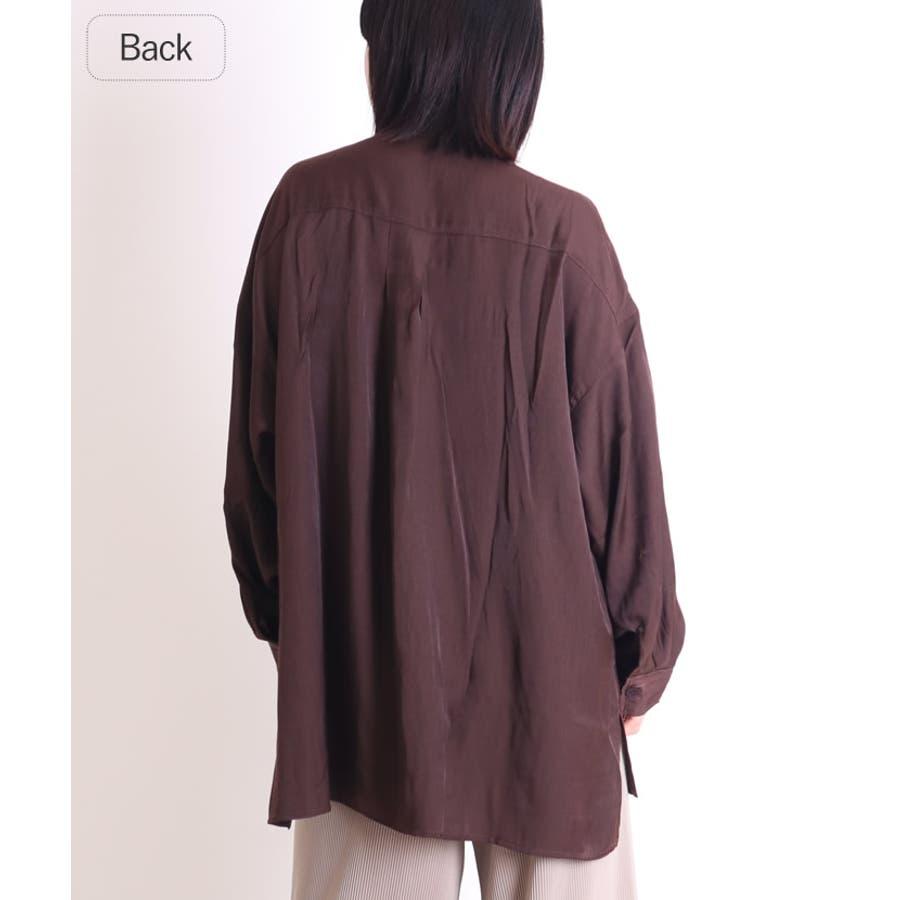 ビッグシャツ ロングシャツ チャイナ 5