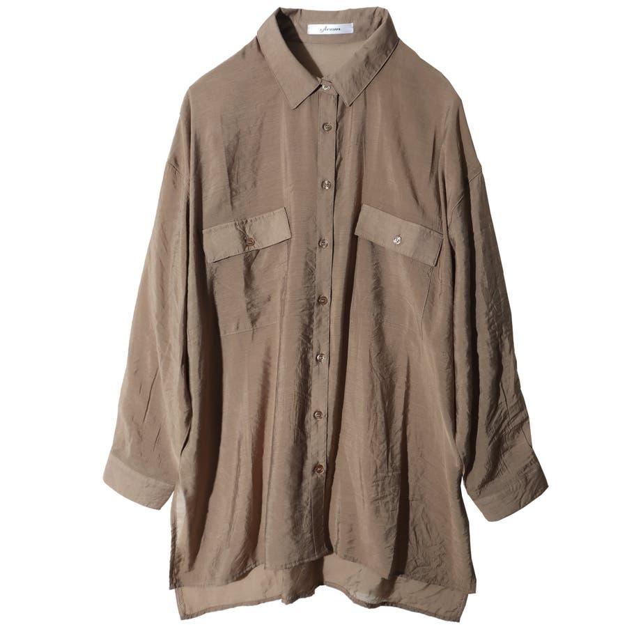 シャツ シアーシャツ レディース ビッグシルエット オーバーサイズ ブラウス シアー 透け感 肌みせ 肌見せ おしゃれ ロングロングシャツ ビッグシャツ 羽織り 春 夏 トップス 上着 韓国 韓国ファッション きれいめ カジュアル 体系カバー 長袖 セクシー 41