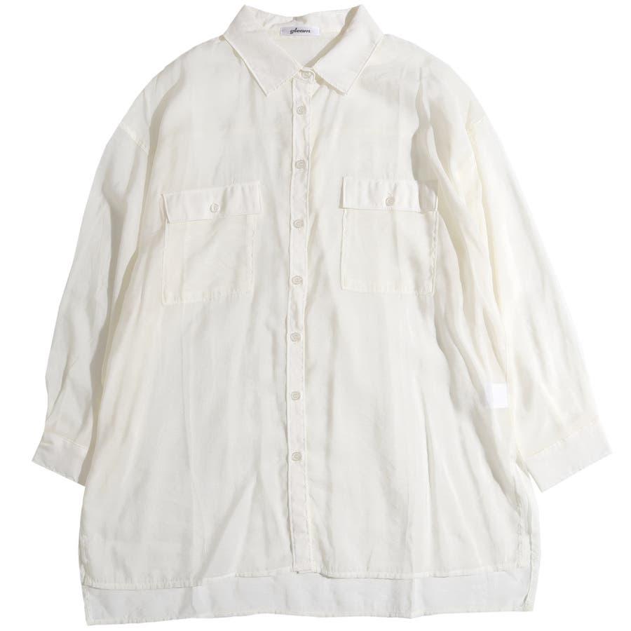 シャツ シアーシャツ レディース ビッグシルエット オーバーサイズ ブラウス シアー 透け感 肌みせ 肌見せ おしゃれ ロングロングシャツ ビッグシャツ 羽織り 春 夏 トップス 上着 韓国 韓国ファッション きれいめ カジュアル 体系カバー 長袖 セクシー 18
