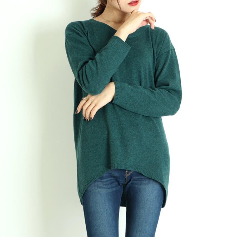 ニット ロング丈 vネック レディース ピンク シンプル 無地 ニットプルオーバー ゆったり 長袖 薄手 秋 秋服 春 人気 体系カバー韓国 韓国ファッション おしゃれ オフィスカジュアル きれいめ カジュアル 47