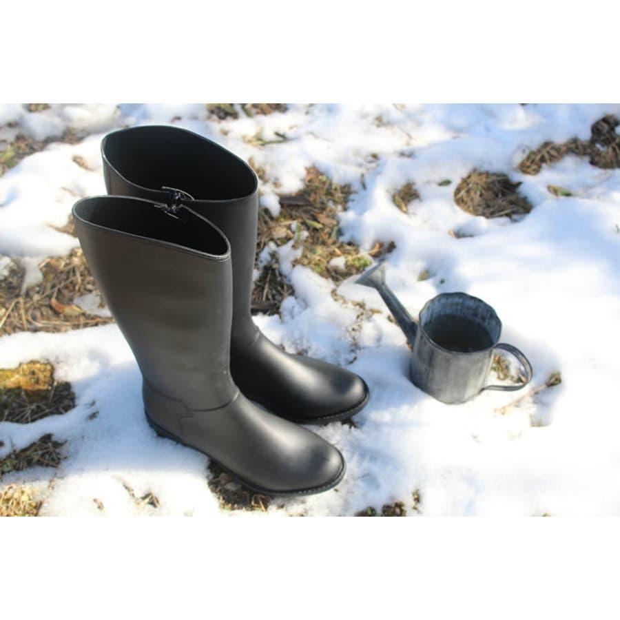 長靴 レディース レインブーツ レインシューズ 大きいサイズ ロング 雨 雪 防寒 防水 軽量 おしゃれ 靴 滑らない ブーツ ロングブーツ 雨具 シューズ 靴 雨の日 雨靴 雨用 雪用 雪 プチプラ 歩きやすい ローヒール  3