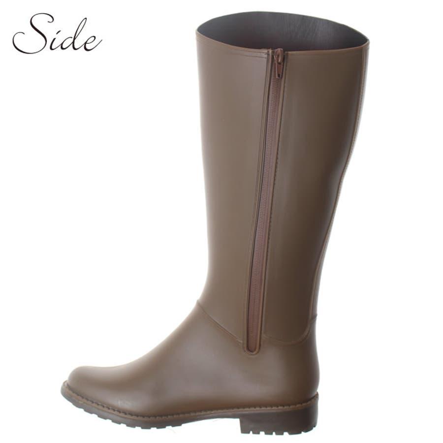 長靴 レディース レインブーツ レインシューズ 大きいサイズ ロング 雨 雪 防寒 防水 軽量 おしゃれ 靴 滑らない ブーツ ロングブーツ 雨具 シューズ 靴 雨の日 雨靴 雨用 雪用 雪 プチプラ 歩きやすい ローヒール  5