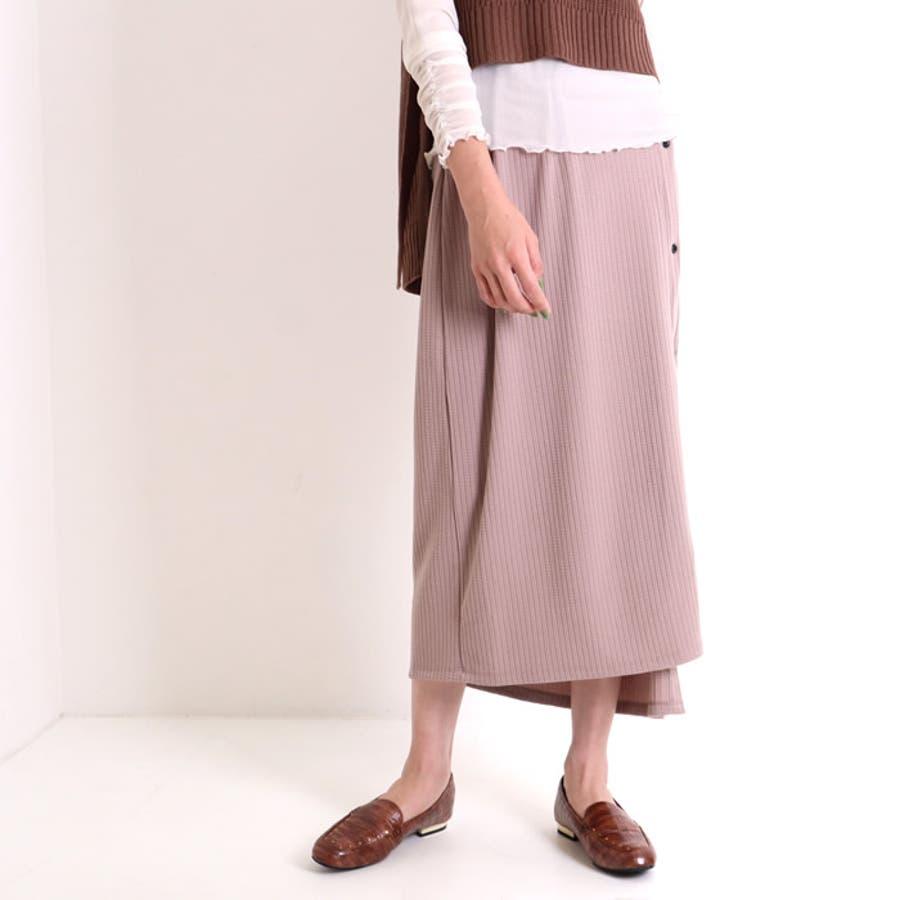 ロングスカート フレアパンツ セット レディース レイヤード 重ね着 スカート ハイウエスト イージーパンツ 2点セット ボトムス ズボン パンツ ワイドパンツ ゆったり ウエストゴム 韓国 韓国ファッション 人気 大人 タイトスカート 9