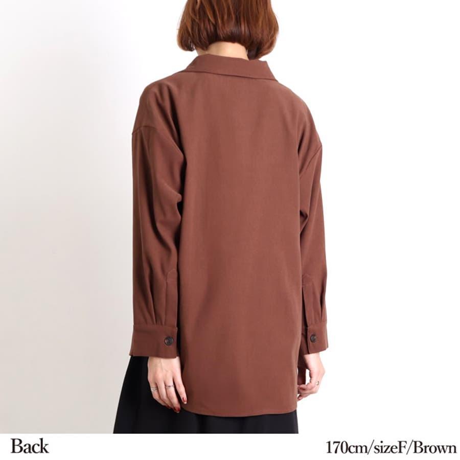 ビッグシャツ ロングシャツ 長袖 5