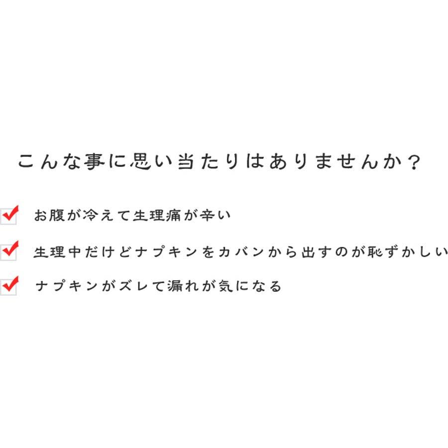 ジャコンヌ ポケット付き サニタリーショーツ3枚セット【昼用・羽根付対応】『M〜LL』 2