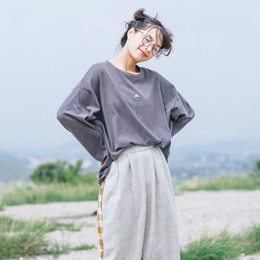 jemiremi フロントイラストオーバートップス/レディースファッション ...