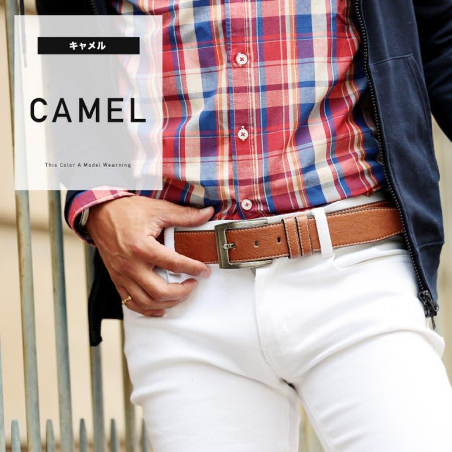 ◆カラーベルト◆ベルト メンズ レザーベルト カジュアル ビジネス ブランド レザー 革 メンズファッション プレゼント 男性 3