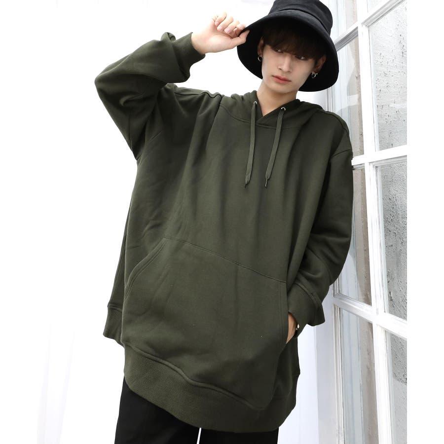 パーカー ゆったり パーカー 韓国 ファッション メンズ 定番 ◆ビッグシルエット プルオーバー パーカー◆ 53