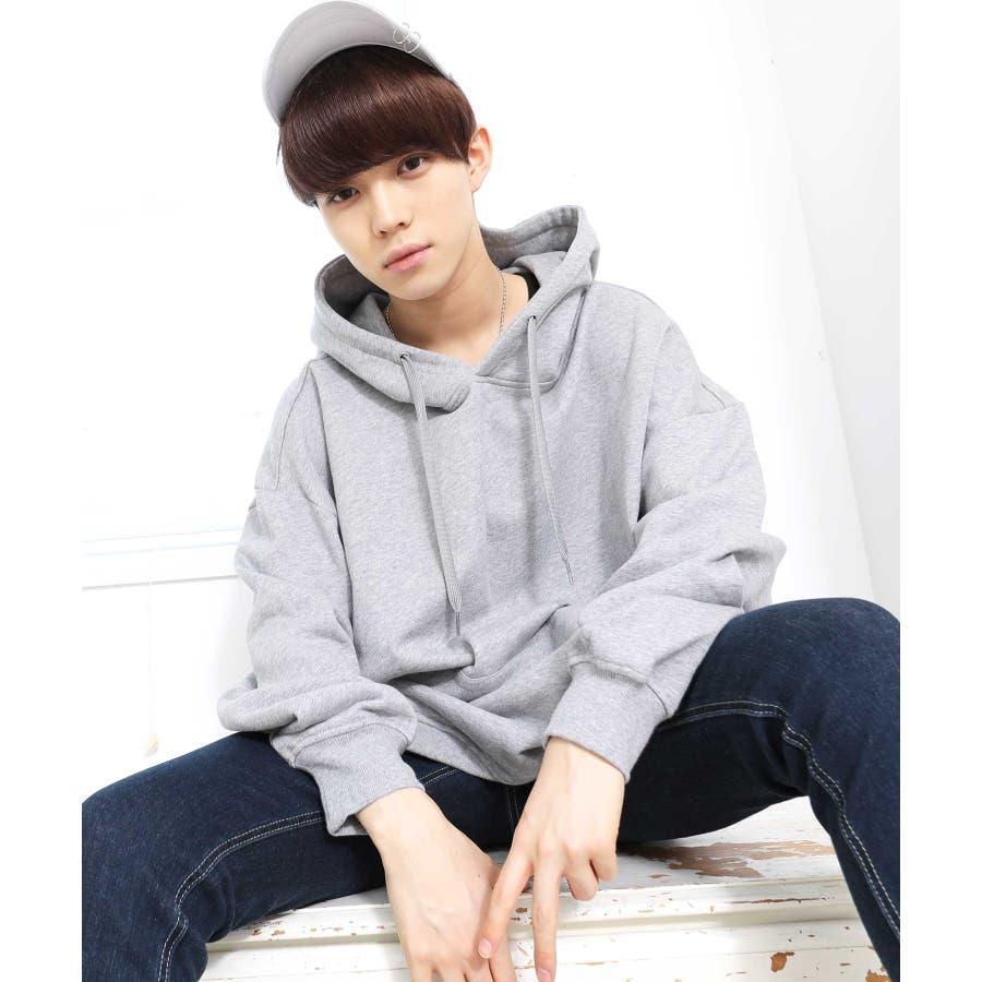 パーカー ゆったり パーカー 韓国 ファッション メンズ 定番 ◆ビッグシルエット プルオーバー パーカー◆ 23