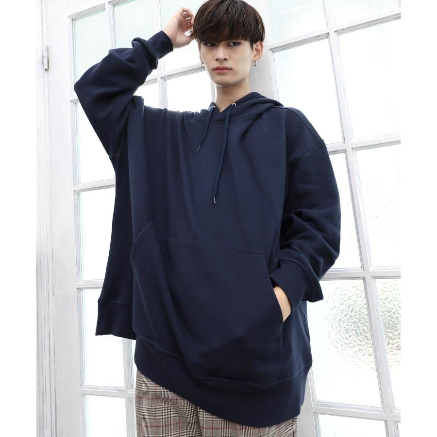 パーカー ゆったり パーカー 韓国 ファッション メンズ 定番 ◆ビッグシルエット プルオーバー パーカー◆ 64