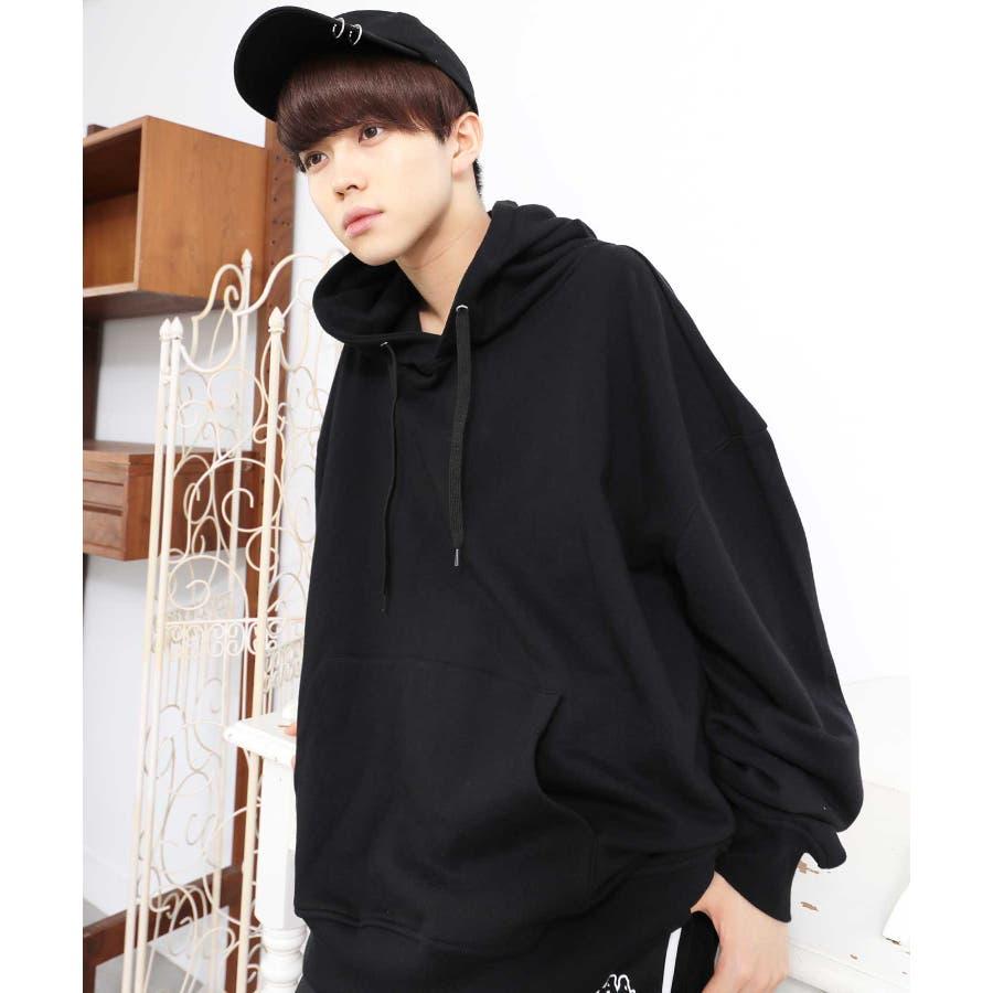 パーカー ゆったり パーカー 韓国 ファッション メンズ 定番 ◆ビッグシルエット プルオーバー パーカー◆ 21