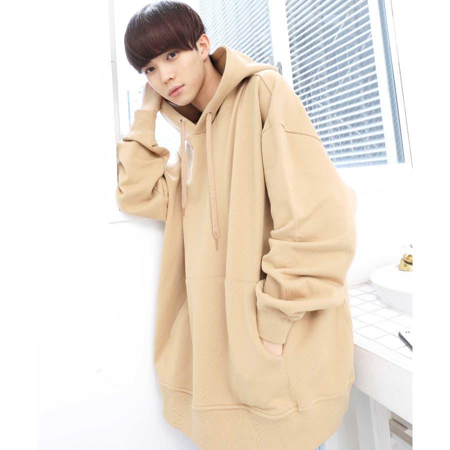 パーカー ゆったり パーカー 韓国 ファッション メンズ 定番 ◆ビッグシルエット プルオーバー パーカー◆ 41