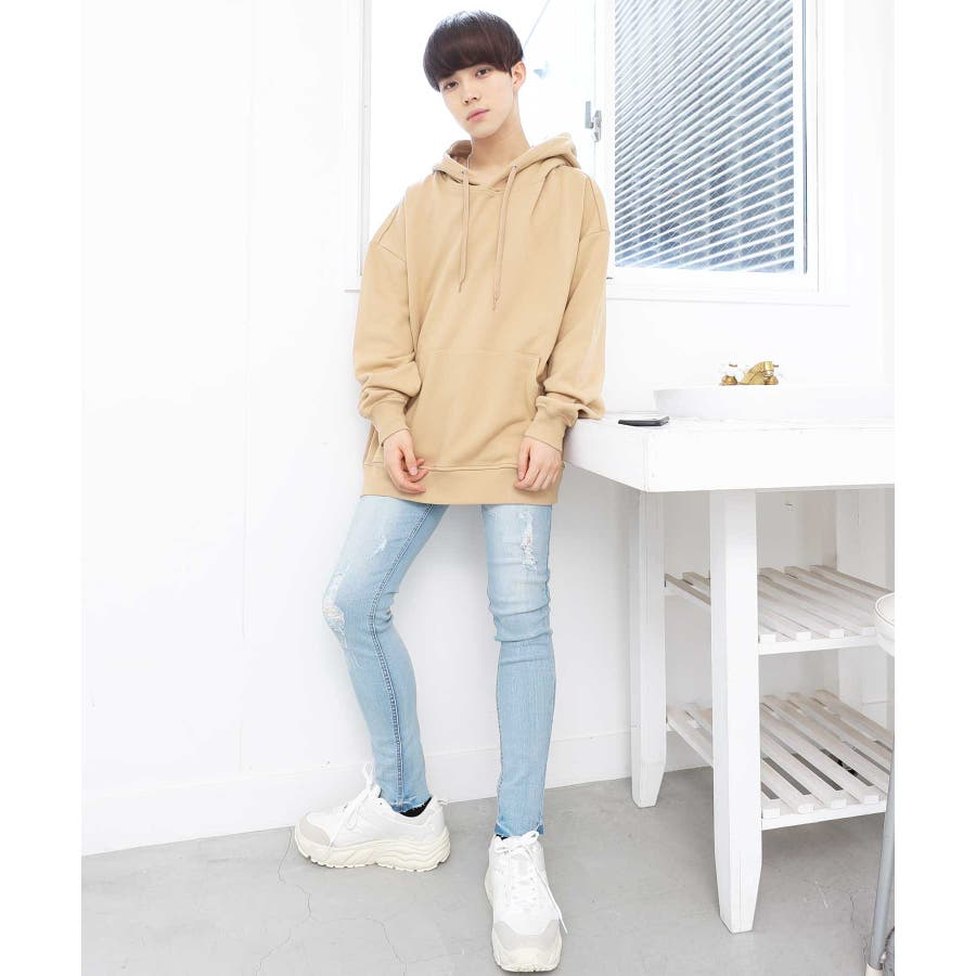 パーカー ゆったり パーカー 韓国 ファッション メンズ 定番 ◆ビッグシルエット プルオーバー パーカー◆ 2