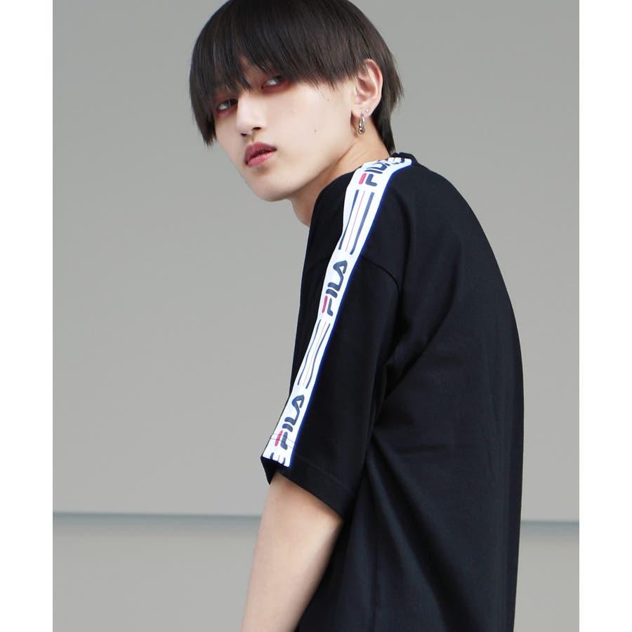 韓国 ファッション メンズ 服◆G.O.C(ジーオーシー)FILA / フィラ ロゴテープ 半袖Tシャツ◆ 3