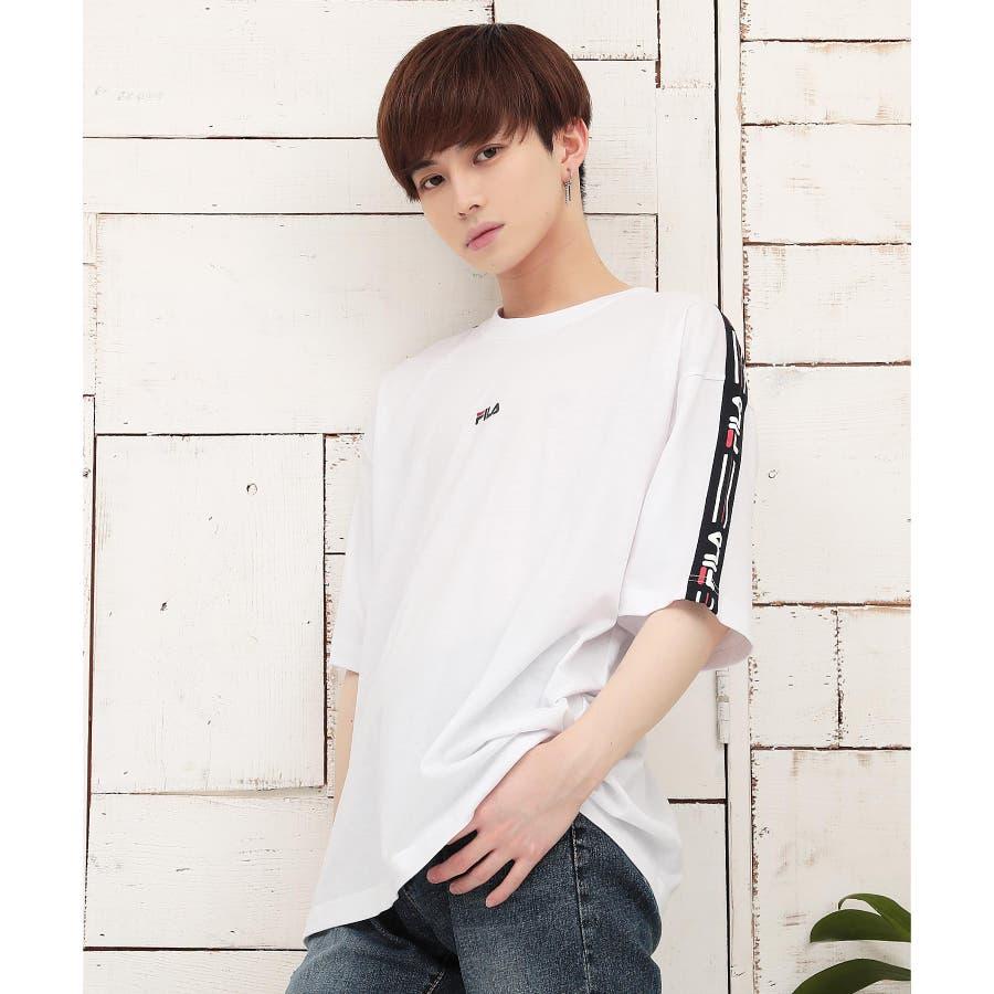 韓国 ファッション メンズ 服◆G.O.C(ジーオーシー)FILA / フィラ ロゴテープ 半袖Tシャツ◆ 16