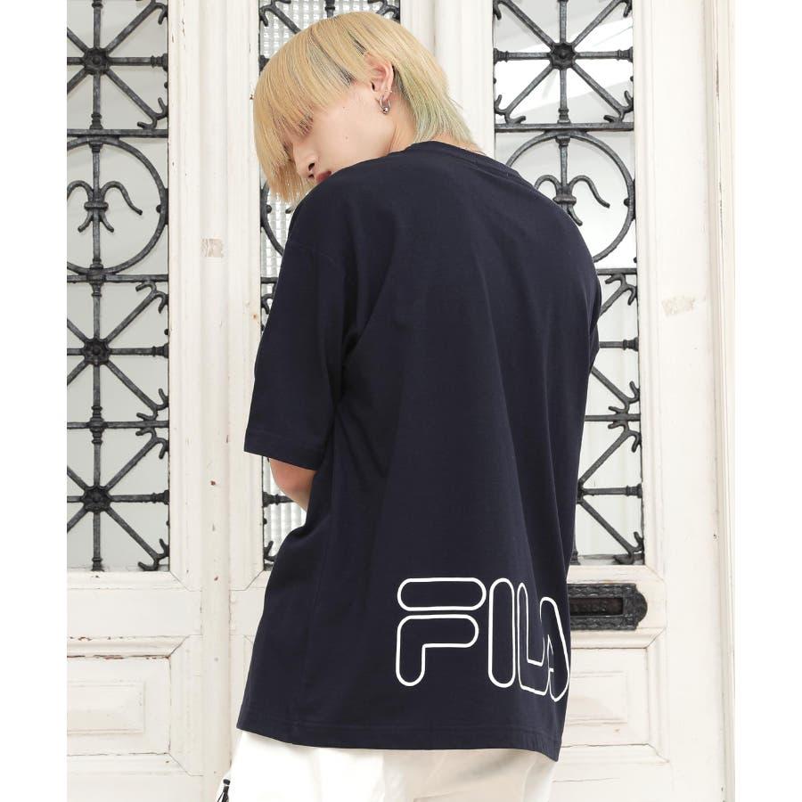 韓国 ファッション メンズ 服 バックプリント◆G.O.C(ジーオーシー)FILA / フィラ バックプリント 半袖Tシャツ◆ 64